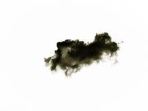Set odosobnione chmury nad białym tłem cztery elementy projektu tła snowfiake białego Czernie odizolowywać chmury Wycinanki wydob Fotografia Stock