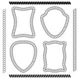 Set odosobnione wektorowe ramy prostokątny kształt i muśnięcia royalty ilustracja