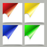 Set odosobnionego realistycznego pustego wektoru papieru kolorowi sztandary royalty ilustracja