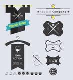 Set odzieży Retro etykietki odznaka i Obrazy Royalty Free