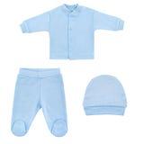 Set odziewa dla dzieci i dzieci, odosobnienie Obrazy Stock