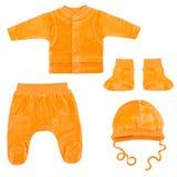 Set odziewa dla dzieci i dzieci, odosobnienie Zdjęcie Stock