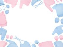 Set odziewa dla dzieci i dzieci, odosobnienie Obraz Stock