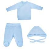 Set odziewa dla dzieci i dzieci, odosobnienie Zdjęcia Royalty Free