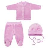 Set odziewa dla dzieci i dzieci, odosobnienie Zdjęcie Royalty Free
