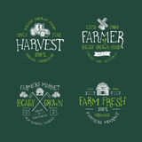 SET odznaka DLA rolnika rynku Ilustracja Wektor