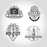 SET odznaka samochodu usługa Obrazy Royalty Free