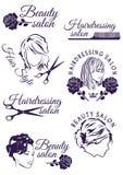 Set odznaki dla piękna i fryzjerstwa salonów Obrazy Royalty Free