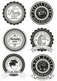 Set odznaki dla piękna i haidressing salonów Obraz Royalty Free