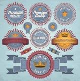 Set odznaki i etykietki ilustracji