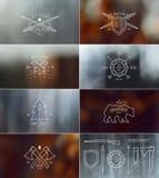 Set odznaki z zamazanymi tło Zdjęcie Royalty Free