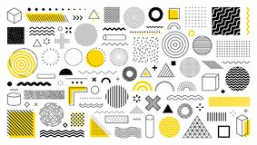 Free Set Of 100 Geometric Shapes. Memphis Design, Retro Elements For Web, Vintage, Advertisement, Commercial Banner, Poster, Leaflet, Royalty Free Stock Photography - 159221347