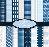 Set Of 16 Different Patterns Royalty Free Stock Photo