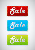 Set Of 3 Colored Sale Tags. Stock Images