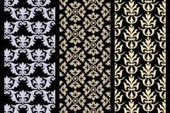 Set Of 3 Victorian Seamless Pattern Stock Photo