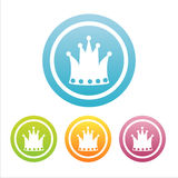 Set Of 4 Crown Signs Stock Photography