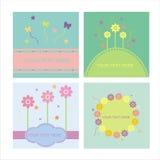 Set Of 4 Floral Frames Stock Photo