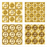 Set Of 4 Musical Patterns Royalty Free Stock Photography