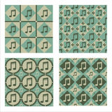 Set Of 4 Musical Patterns Stock Photo