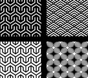 Set Of 4 Vector Abstract Seamless Patterns Stock Photo