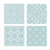 Set Of 4 Winter Patterns Stock Photo