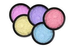 Free Set Of 5 Eyeshadows Isolated On White Stock Photos - 39162203