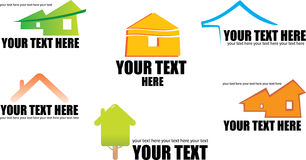 Free Set Of 6 Building Real Estate Icons And Design E Stock Photography - 14273752