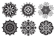 Free Set Of 6 Mandalas - Flower / Nature Mandalas Royalty Free Stock Photography - 13863677
