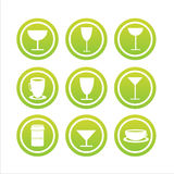 Set Of 9 Drink Signs Royalty Free Stock Photo
