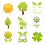 Set Of 9 Nature Icons Royalty Free Stock Photo