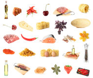 Set Of About 27 Foods Royalty Free Stock Image
