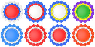 Set Of Abstract Circle Labels Stock Photography