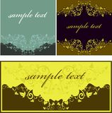 Set Of Abstract Floral Royalty Free Stock Photography