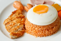 Set Of American Style Fried Rice Stock Photos