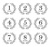 Set Of Anniversary Laurel Wreaths Royalty Free Stock Image