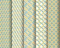 Set Of Arabic Seamless Patterns Royalty Free Stock Photos