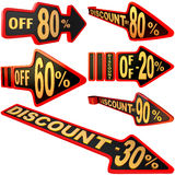 Set Of Arrow Labels For Sales With Discounts Stock Images