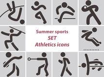 Set Of Athletics Icons Stock Photography