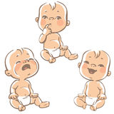 Set Of Baby Emotion Icons. Stock Photos