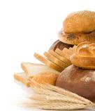 Set Of Bakery Products On White Stock Image