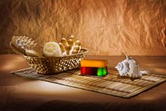 Set Of Bathing Articles Royalty Free Stock Photography