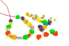 Set Of Beads For Children Royalty Free Stock Photography