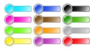 Set Of Beautiful Buttons Royalty Free Stock Image