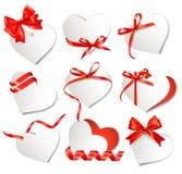 Set Of Beautiful Gift Cards Stock Photos