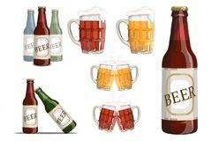 Set Of Beer Glass. Royalty Free Stock Photography