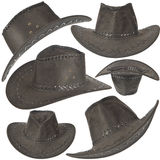 Set Of Black Cowboy Hat Royalty Free Stock Images