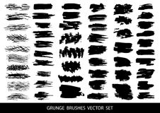 Free Set Of Black Paint, Ink, Grunge, Dirty Brush Strokes. Vector Illustration. Stock Image - 89765491