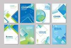 Free Set Of Blue Cover Annual Report, Brochure, Design Templates. Use Stock Image - 113810801