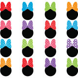 Set Of Bows Stock Images