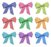 Set Of Bright Bows Royalty Free Stock Images